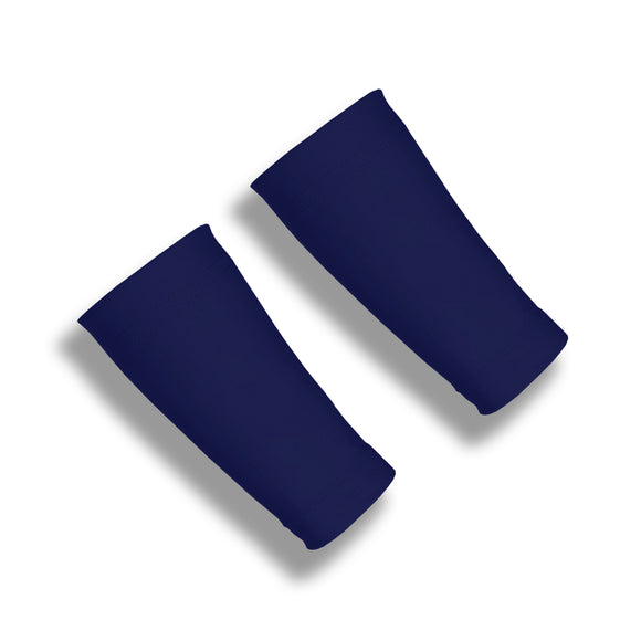 BASELINE Dark Navy 6 Inch Basketball Wrist Covers for Compression