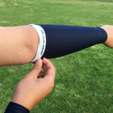 no slip gripper black forearm volleyball sleeve