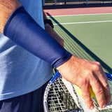 TOPSPIN Brown 6 Inch Tennis Wrist Compression Sleeves