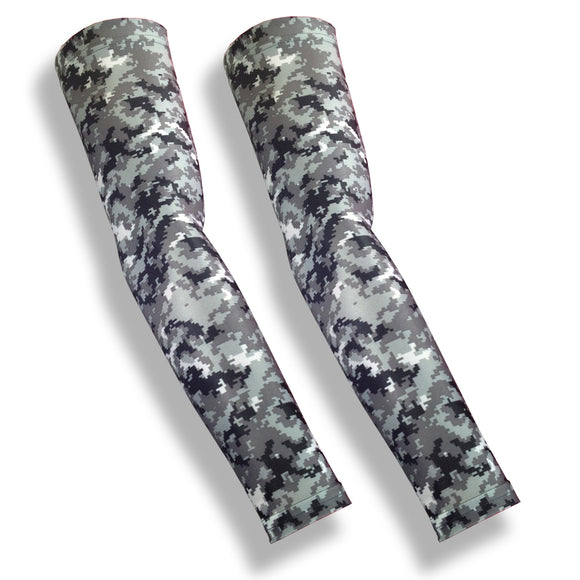 MATCH POINT Grey Digital Camo Tennis Sleeves