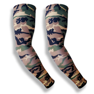 iM Sports MILER Green Camo Pattern Running Full Arm Sun Protection Sleeves