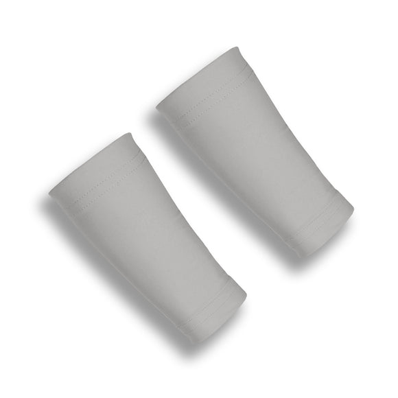 BASELINE Grey 6 Inch Basketball Wrist Cover Sleeves