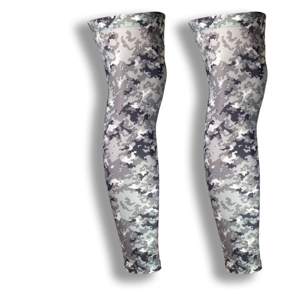 iM Sports CIRCUIT Grey Digital Camo Cycling Leg Sleeves