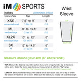 Wrist 6 Inch Tennis Recovery Sleeves Size Chart