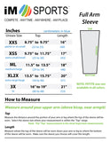 size chart for full arm running sleeves