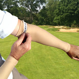 no slip gripper for golf arm compression