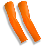 CROSSOVER Neon Orange Basketball Arm Covers