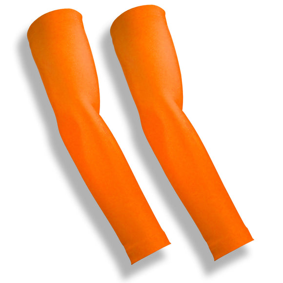 iM Sports BREAKAWAY Neon Orange Cycling Safety Arm Sleeves