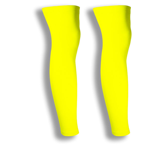 iM Sports CIRCUIT Neon Yellow Cycling Leg Sleeves