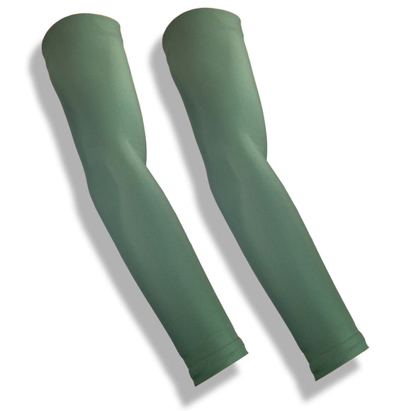 CROSSOVER Olive Green Basketball Shooter Arm Warmers