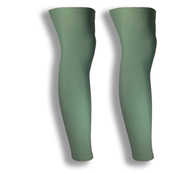 olive green cycling full leg sleeves