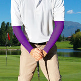purple compression sleeves for golfers