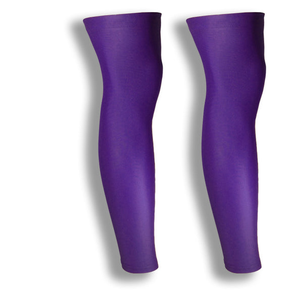 iM Sports CIRCUIT Purple Cycling Leg Sleeves