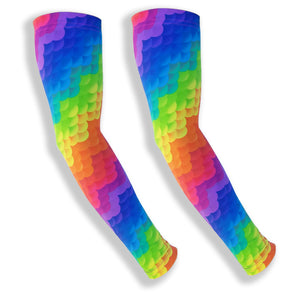 SPIKE BLOCKER Rainbow Cloud Pattern Arm Covers for Volleyball
