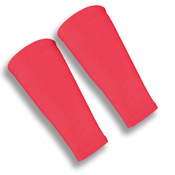 Red Volleyball Forearm 9 Inch Compression Sleeves