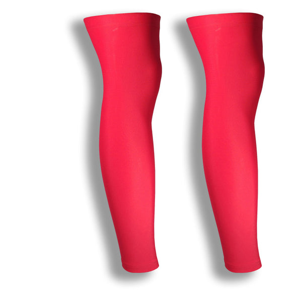 iM Sports CHEETAH Red Leg Running Compression Sleeves