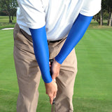 royal blue golf arm sleeves for sun protection