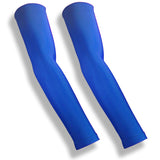 SPIKE BLOCKER Royal Blue Volleyball Compression Full Arm Sleeves