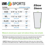 tennis elbow compression sleeve size chart