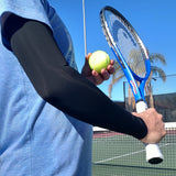 mild compression for arms on the tennis court