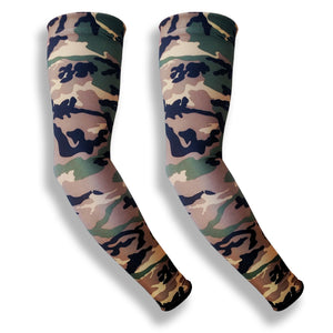 Green Camo Golf Sleeves for Arms