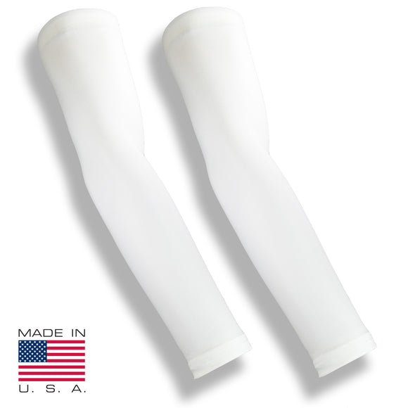 SPIKE BLOCKER White Volleyball Full Arm Sun Sleeves