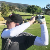 LONG DRIVER White Full Arm UV Cooling Golf Sleeves