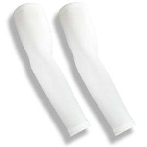iM Sports MILER White Running Full Arm Sun Sleeves