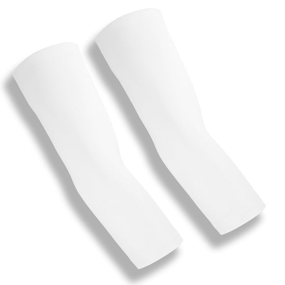 BACKSPIN White Tennis Elbow Recovery Sleeves