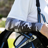 grey camo arm cooling sleeves for golf
