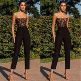 Elegant High Waist Sleeveless Off Shoulder Slim Jumpsuit