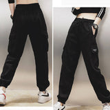 Cotton High Waist Cargo Pants