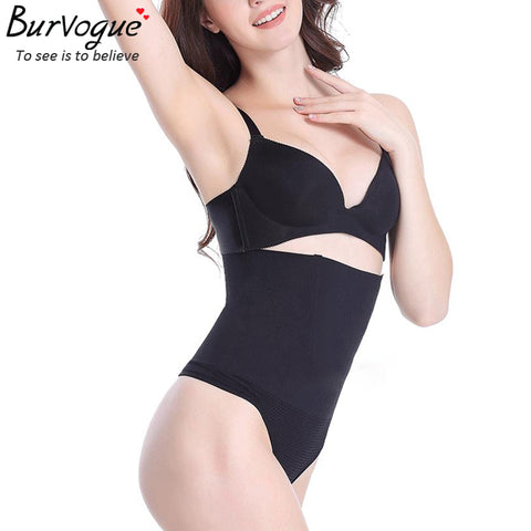 Burvogue Slimming 4 Steel Bones Waist Shaper and Tummy Control Butt Lifter Shaper Underwear High Waist Shaper Panties Shapewear