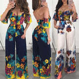 Hot Clubwear Playsuit Floral Off Shoulder