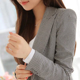 Plaid Long Sleeve Blazers Plus Size
