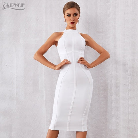 White Bandage Sexy Dress