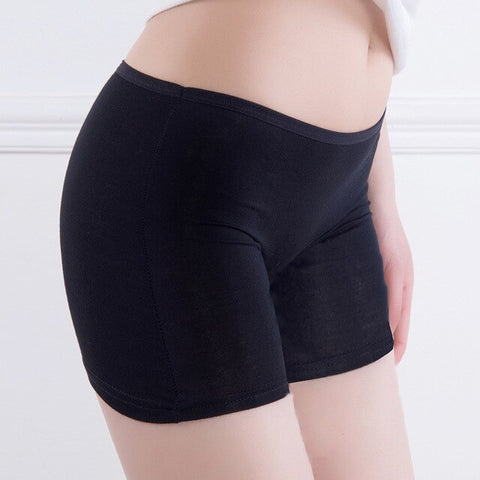 Yesello Shorts Ladies Charcoal Pure Color Light Proof Cotton Seamless Breathable shapewear