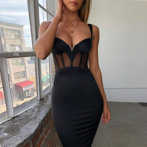 Sexy Rayon Bandage Dress