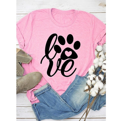 Love Letters Print T-Shirt For Women