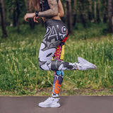 Fashion Leggings BOOM Digital Printing Cartoon