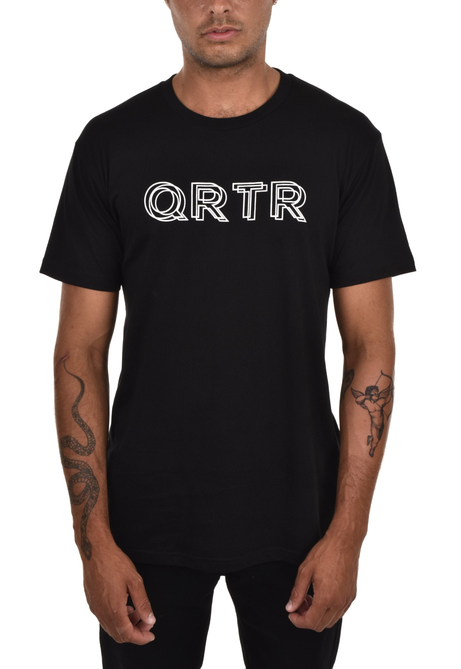 QRTR Metallic Drop Logo T-Shirt - QRTR
