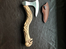 Load image into Gallery viewer, Hand carved skull axe