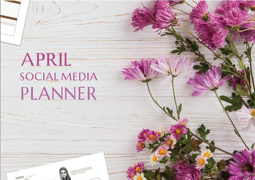 Printable April Social Media Planner by Judette Coward