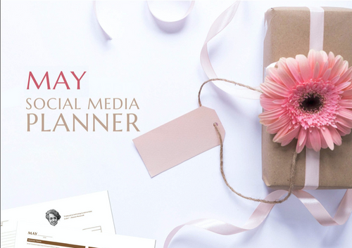 Printable May Social Media Planner by Judette Coward