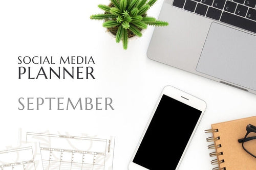 Printable September Social Media Planner by Judette Coward