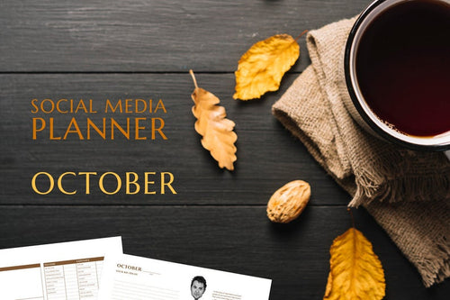 Printable October Social Media Planner by Judette Coward