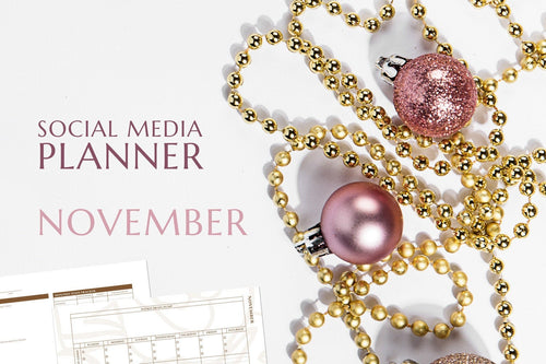 Printable November Social Media Planner by Judette Coward