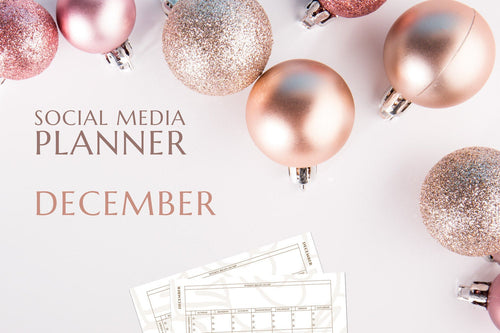 Printable December Social Media Planner by Judette Coward