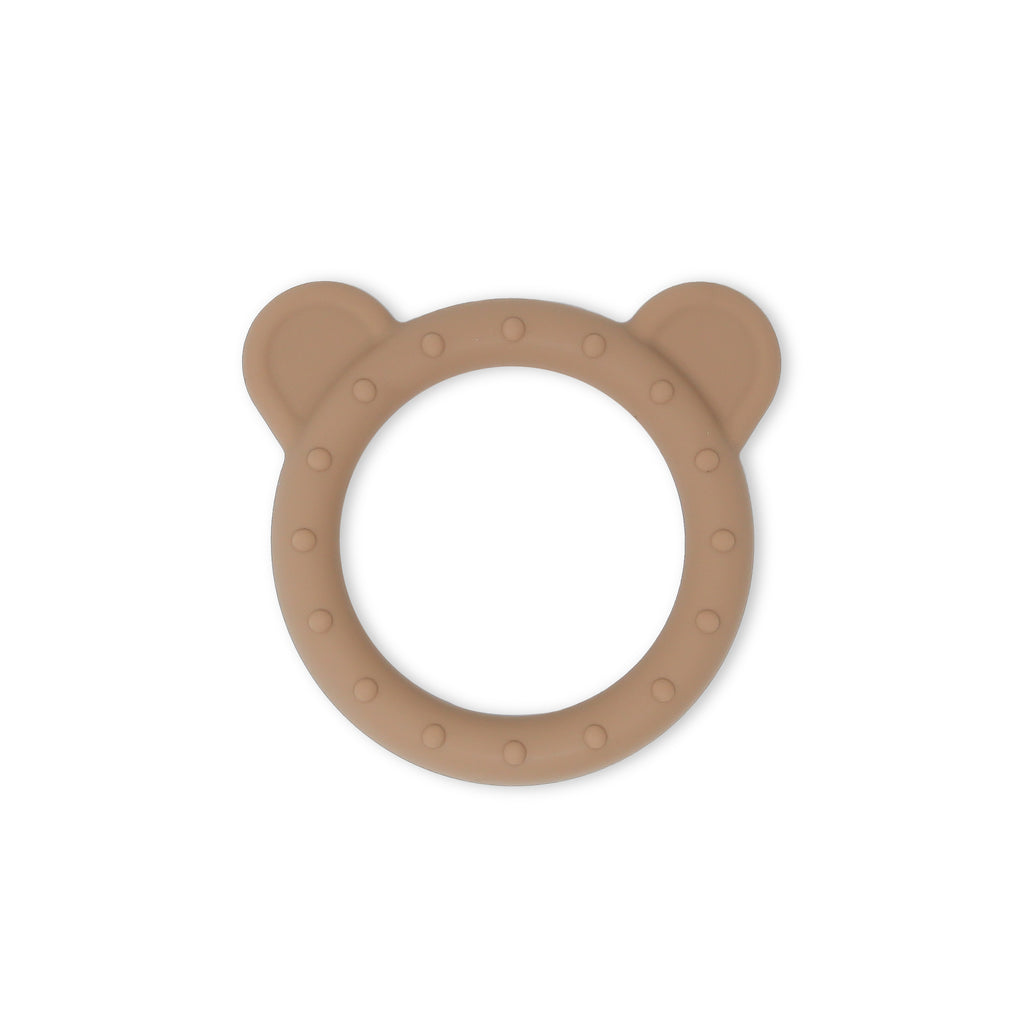 Bear Teether in Taupe Brown