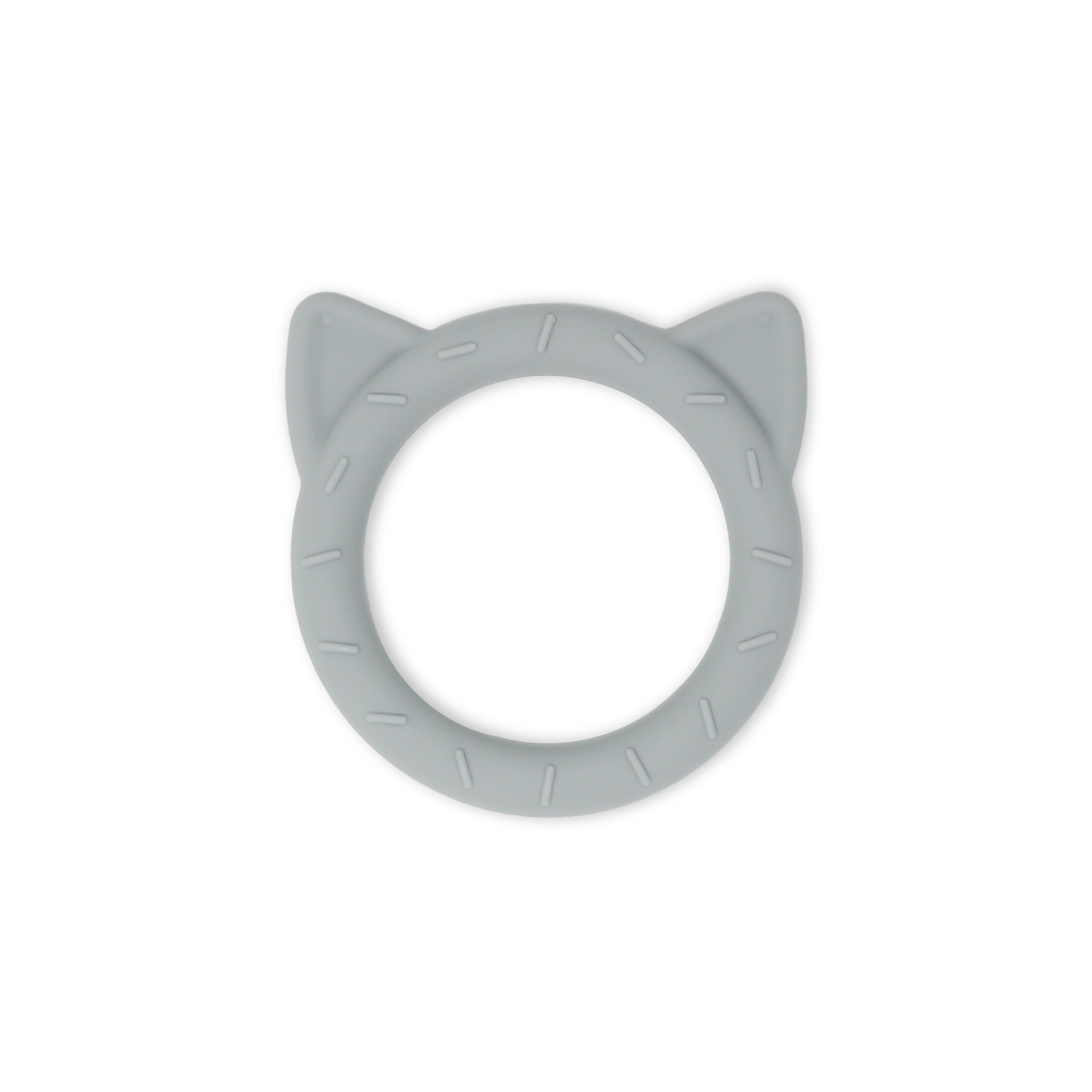 Kitty Cat Teether in Stone